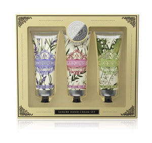 Luxury Hand Cream Set containing 3 floral handcreams