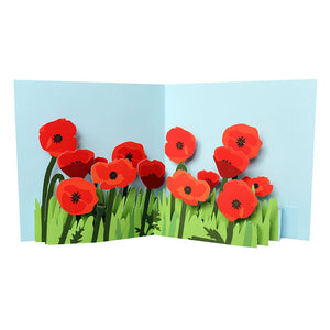 Poppies pop up card