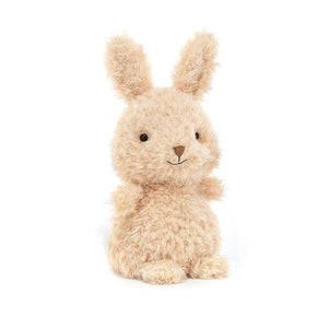 Fluffy bunny soft toy in cream