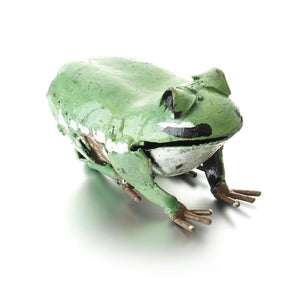 Green Frog Metal Garden Ornament