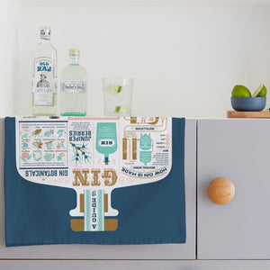 Gin & Tonic Tea Towel in kitchen