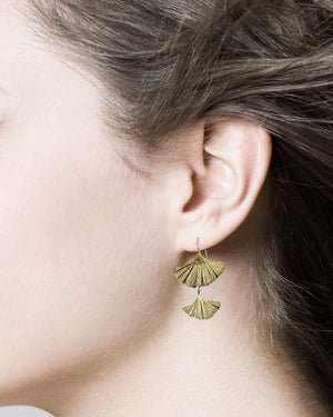 Michael Michaud Ginkgo Earrings