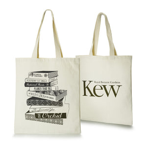 Kew Cotton Tote Bag with Book Design