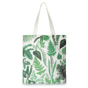 Cotton Tote Bag with Fern Print Design