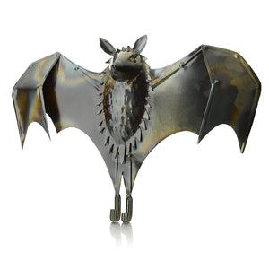 Open Wing Fruit Bat Metal Garden Ornament