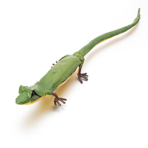 Green Lizard Metal Garden Ornament