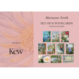 Set of 10 Marianne North Floral Print Notecards