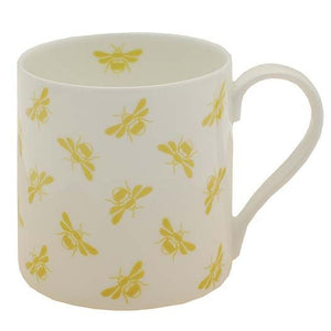 White and yellow bee mug