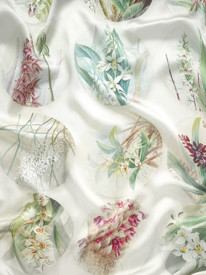 Orchid Silk Scarf Close Up