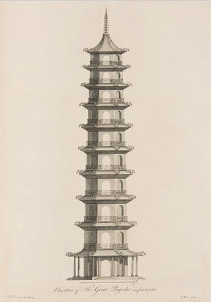 The Great Pagoda Art Print