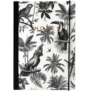 Tropical Bird Print Notebook