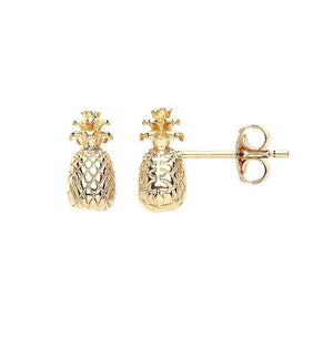 Estella Bartlett Pineapple Stud Earrings in Gold