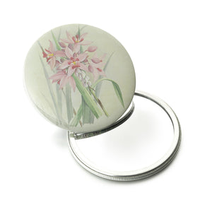 Pink Orchid Pocket Mirror