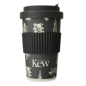 Kew Reusable Coffee Cup Black Floral