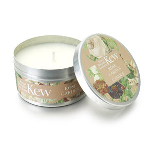 Kew Scented Candle Tin, Rose Garden