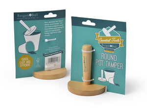 Wooden round pot tamper