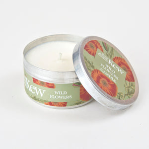 Wild flowers candle tin
