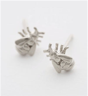 Alex Monroe Silver Bee Stud Earrings