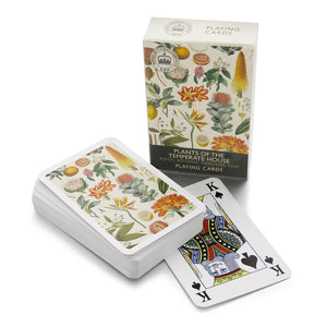 Temperate Botanical Floral Playing Cards