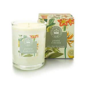 Jasmine and Orange Temperate Botanical Candle