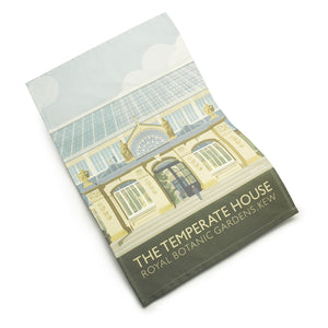 Kew Cotton Tea Towel with Temperate House Illustration