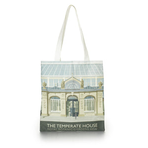 Cotton Tote Bag with Temperate House Illustration
