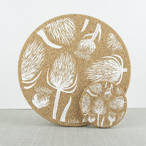 White Thistle Cork Tableware