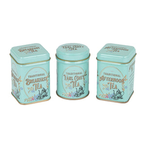 Traditional English Tea Selection. Three pretty tins containing different types of English tea.