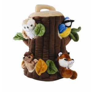 Treehouse Soft Puppet with Animal Toys