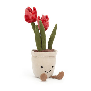Tulips In Pot Soft Toy