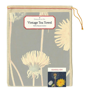 Vintage Dandelion Cotton Tea Towel
