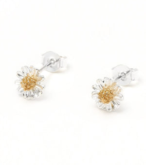 Estella Bartlett Wildflower Silver and Gold Stud Earrings