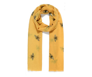 Yellow bee scarf