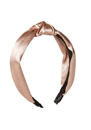 Blush Satin Knot Headband accessories