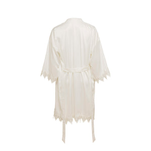 Lace Silky White Dressing Gown ENA&CO