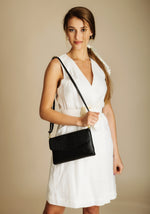 leather bag croco ena and co clutch evening out