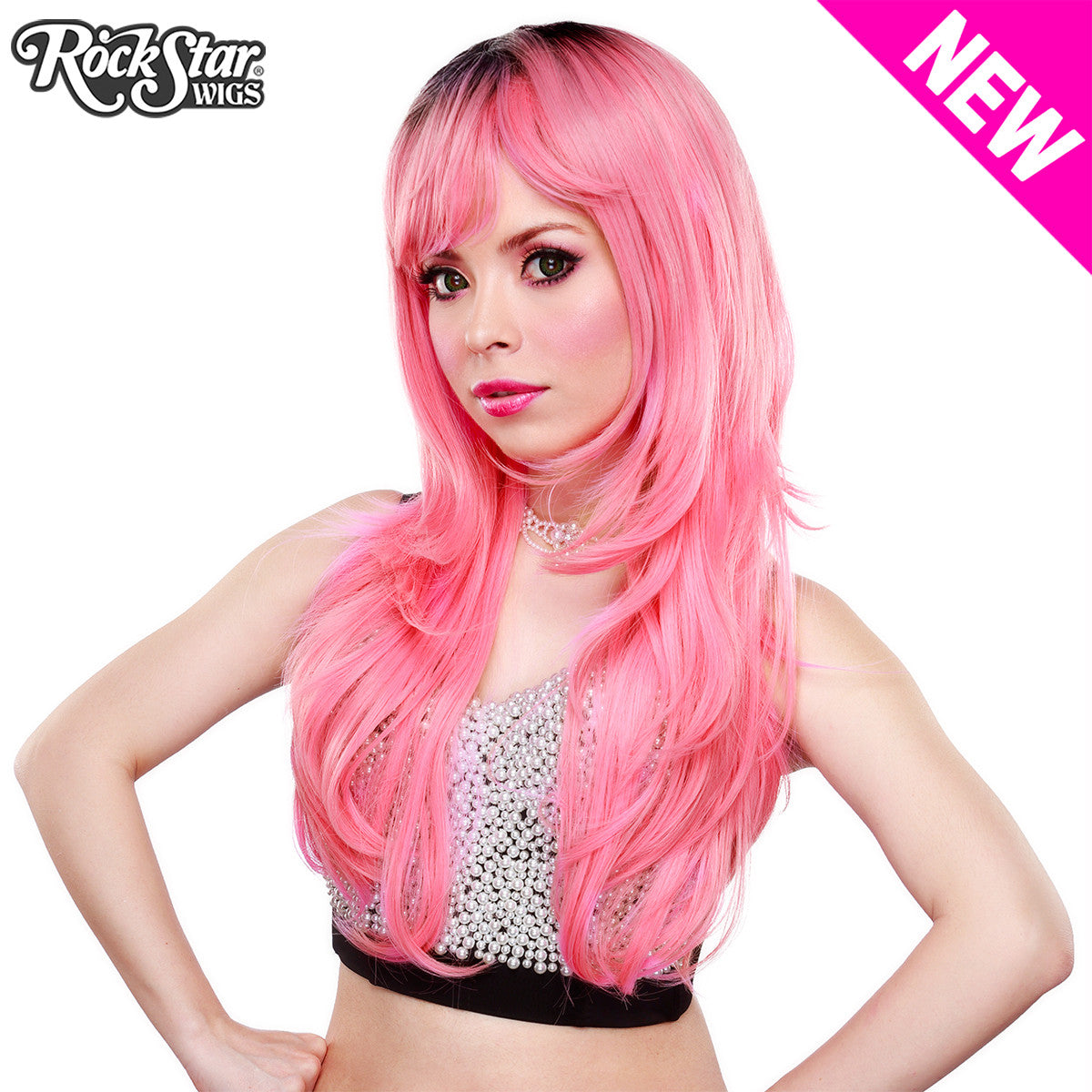 RockStar Wigs® <br> Uptown Girl™ Collection - Bubble Gum Pink -00134