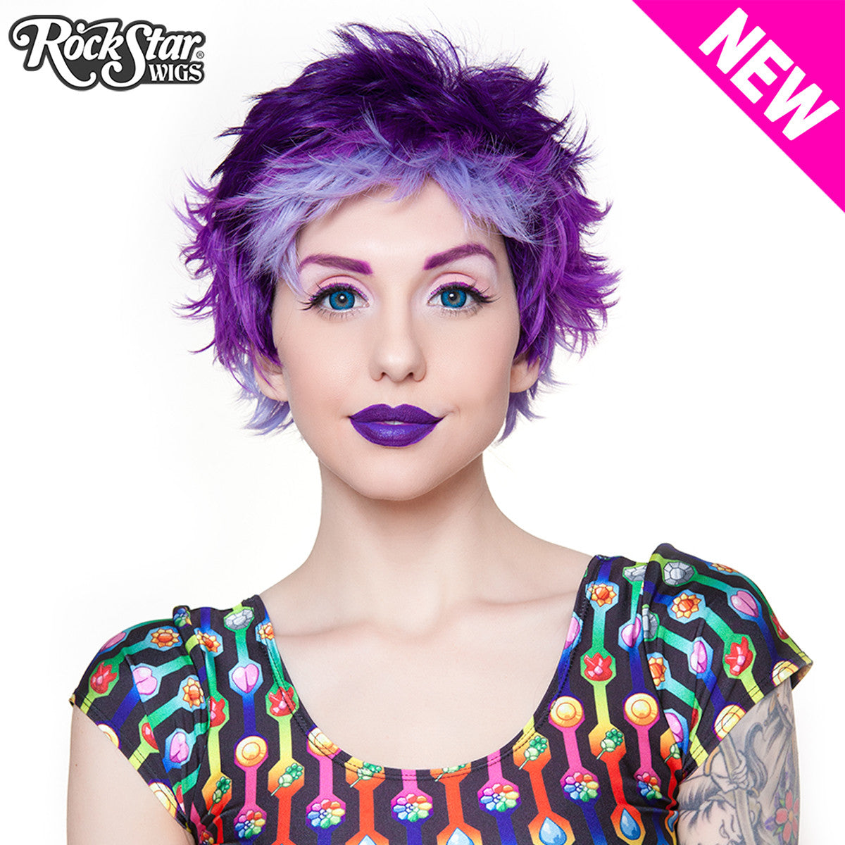 RockStar Wigs® Sassi Short - Purple Possession -00288
