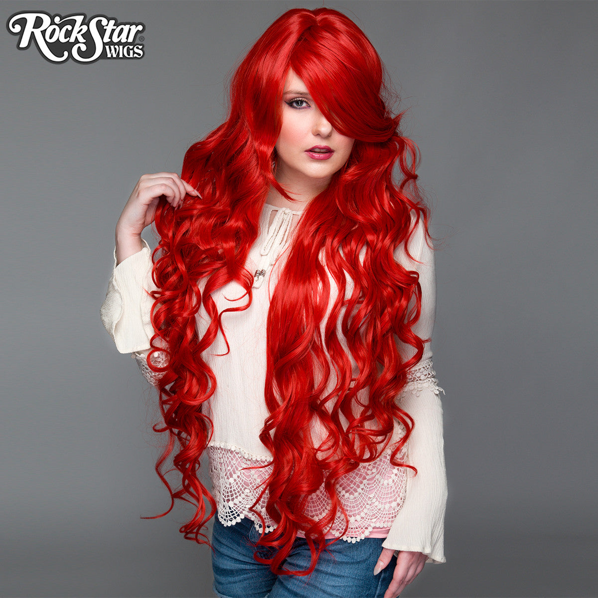 cosplay wigs usa� curly 90cm36quot true red 00335 � dolluxe174