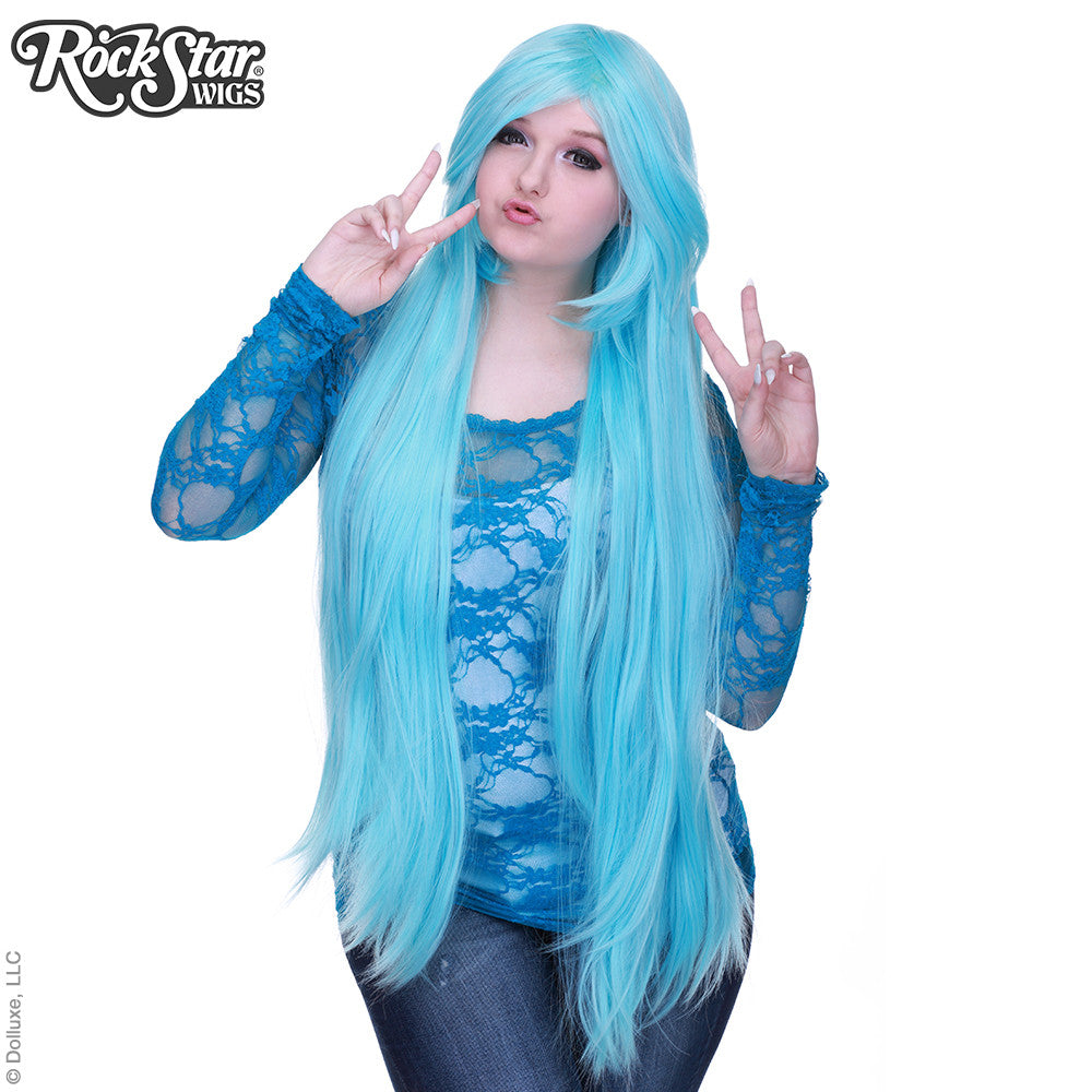 "Cosplay Wigs USA™ <br> Straight 100cm/40"" - Baby Blue -00345"