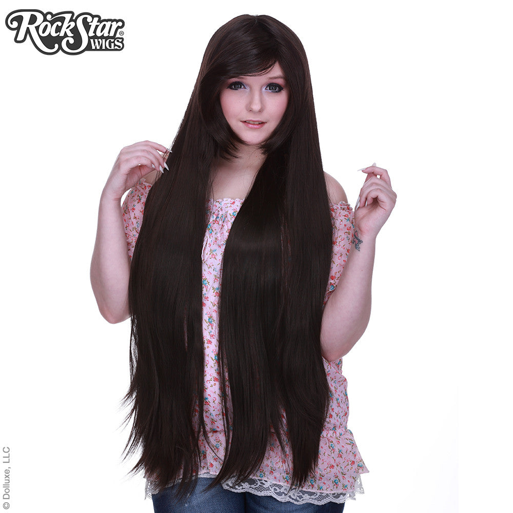 "Cosplay Wigs USA™ Straight 100cm/40"" - Dark Brown -00349 ..."