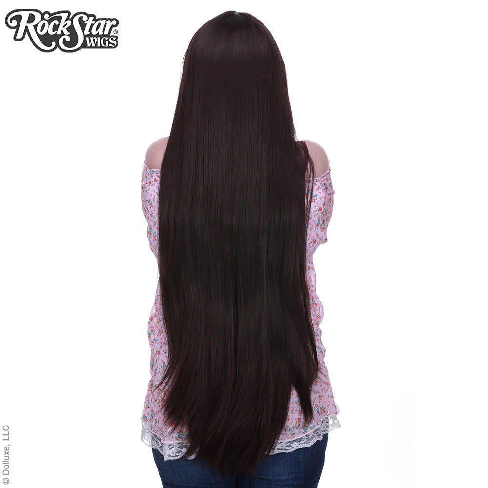 "Cosplay Wigs USA™ <br> Straight 100cm/40"" - Dark Brown -00349"