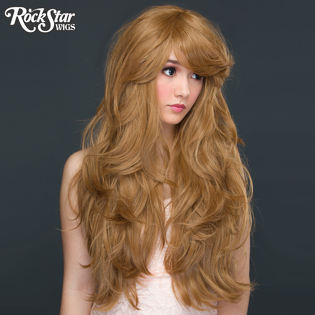"RockStar Wigs® <br> Hologram 32"" - Coffee Latte -00623"