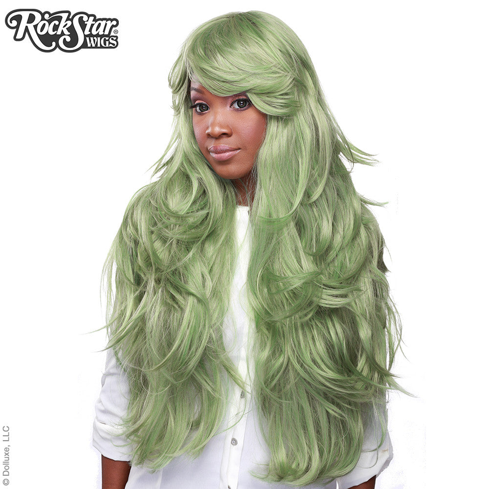 "RockStar Wigs® <br> Hologram 32"" - Dark Mint Mix -00625"