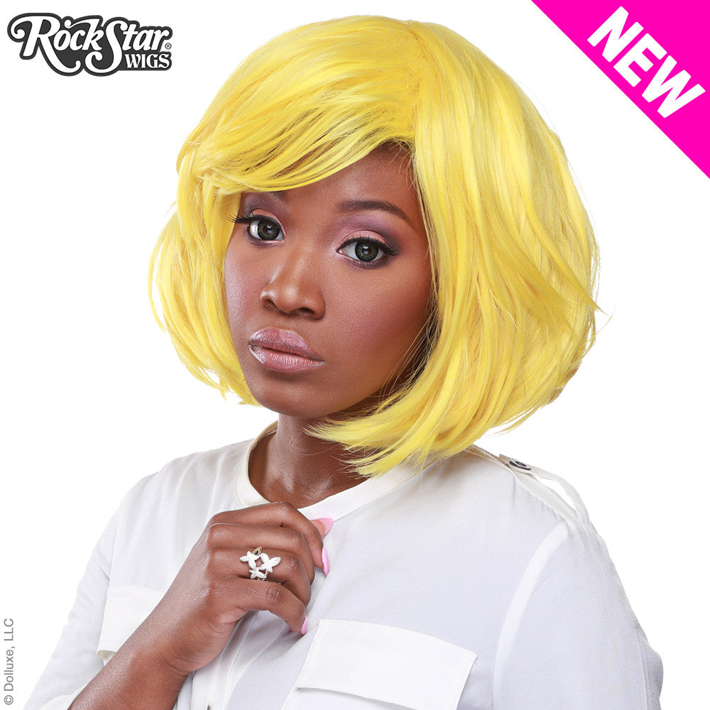 "RockStar Wigs® <br> Hologram 12"" - Yellow -00669"