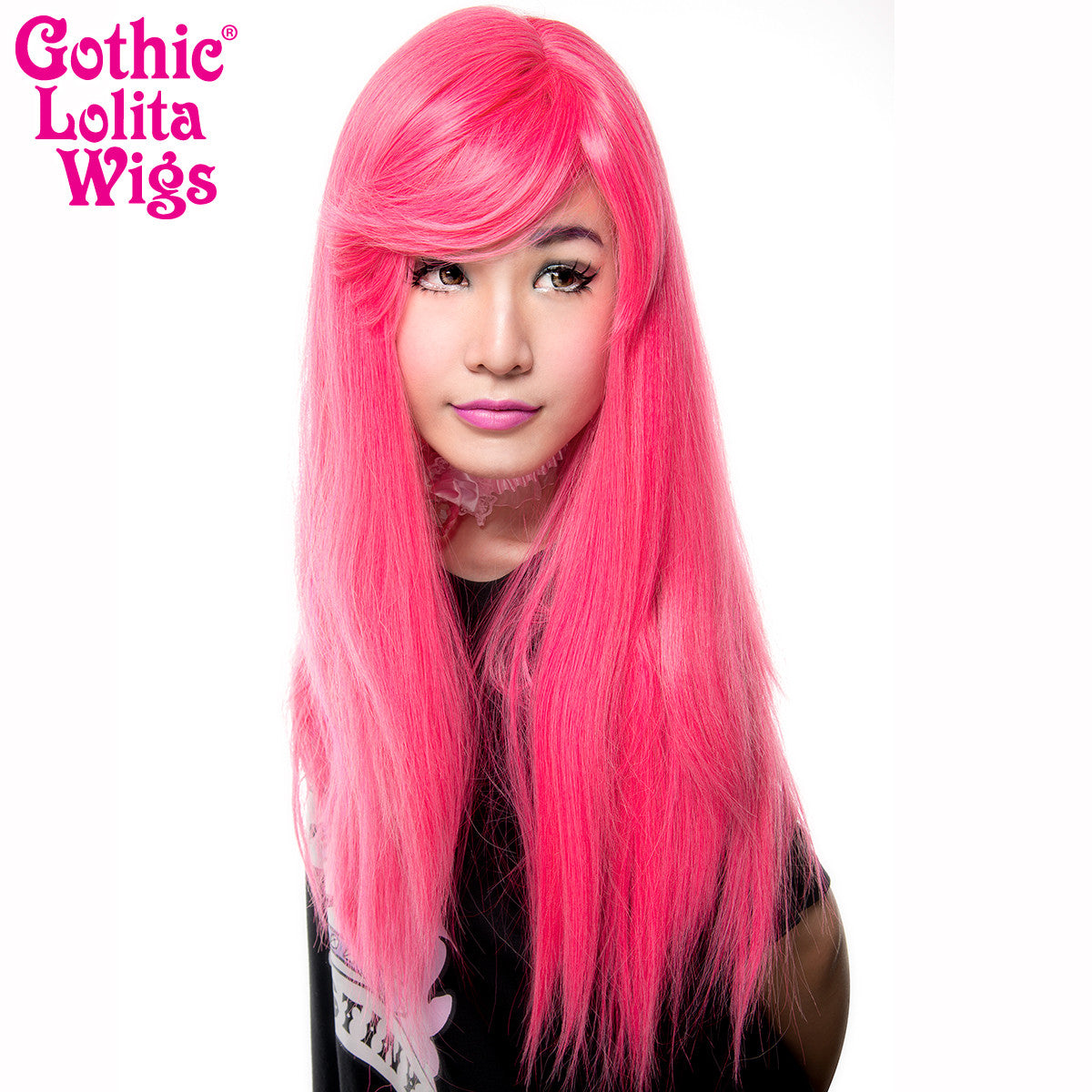 Gothic Lolita Wigs® <br> Bella™ Collection - Atomic Hot Pink -00677