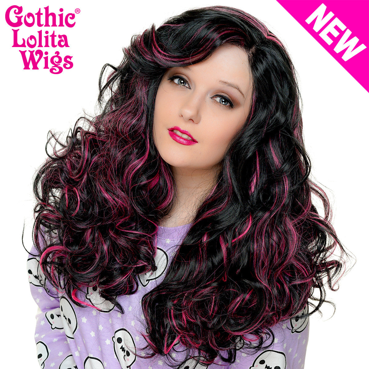 Lace Front Peek A Boo Black With Hot Pink Highlights 00694 Dolluxe
