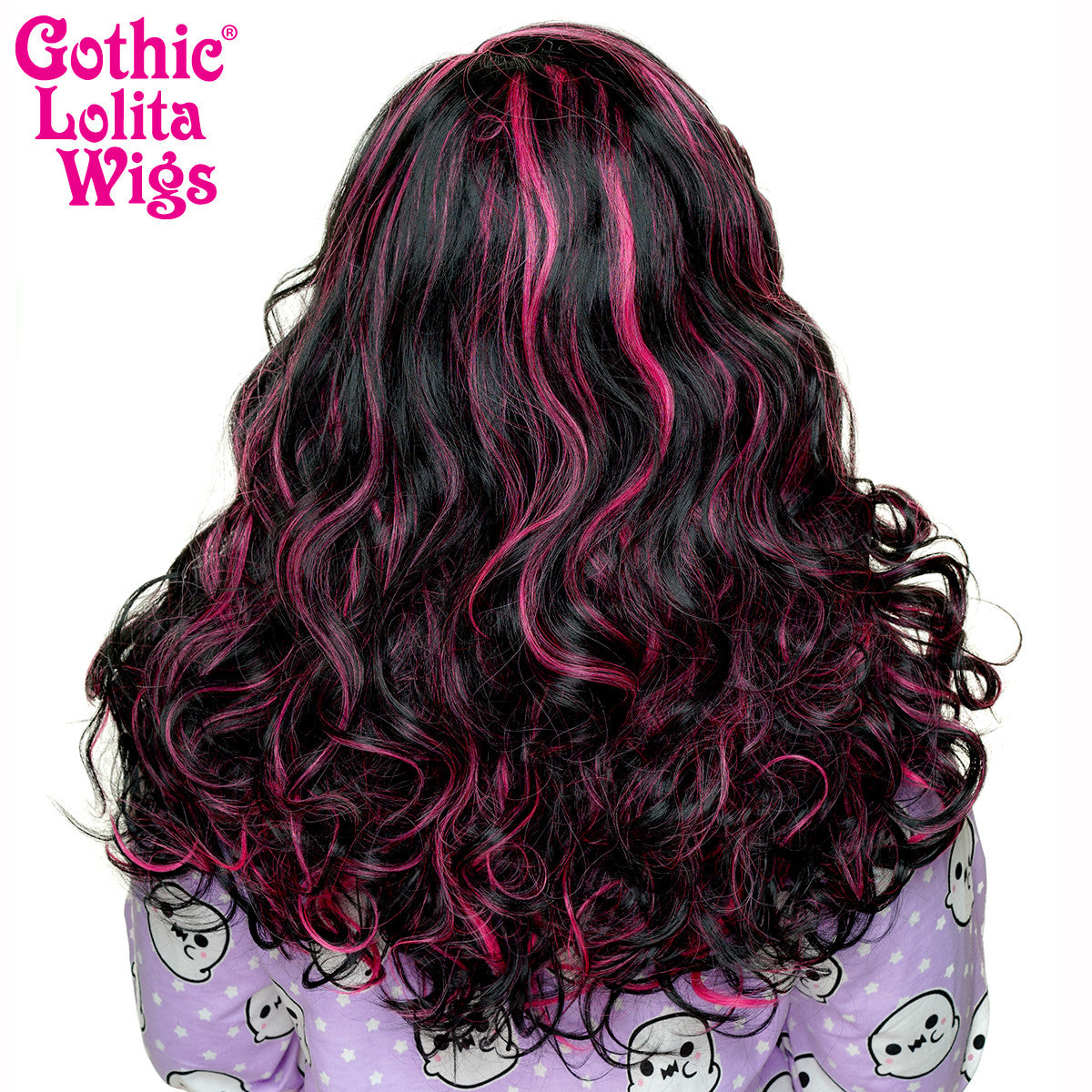 Lace Front Peek A Boo Black With Hot Pink Highlights