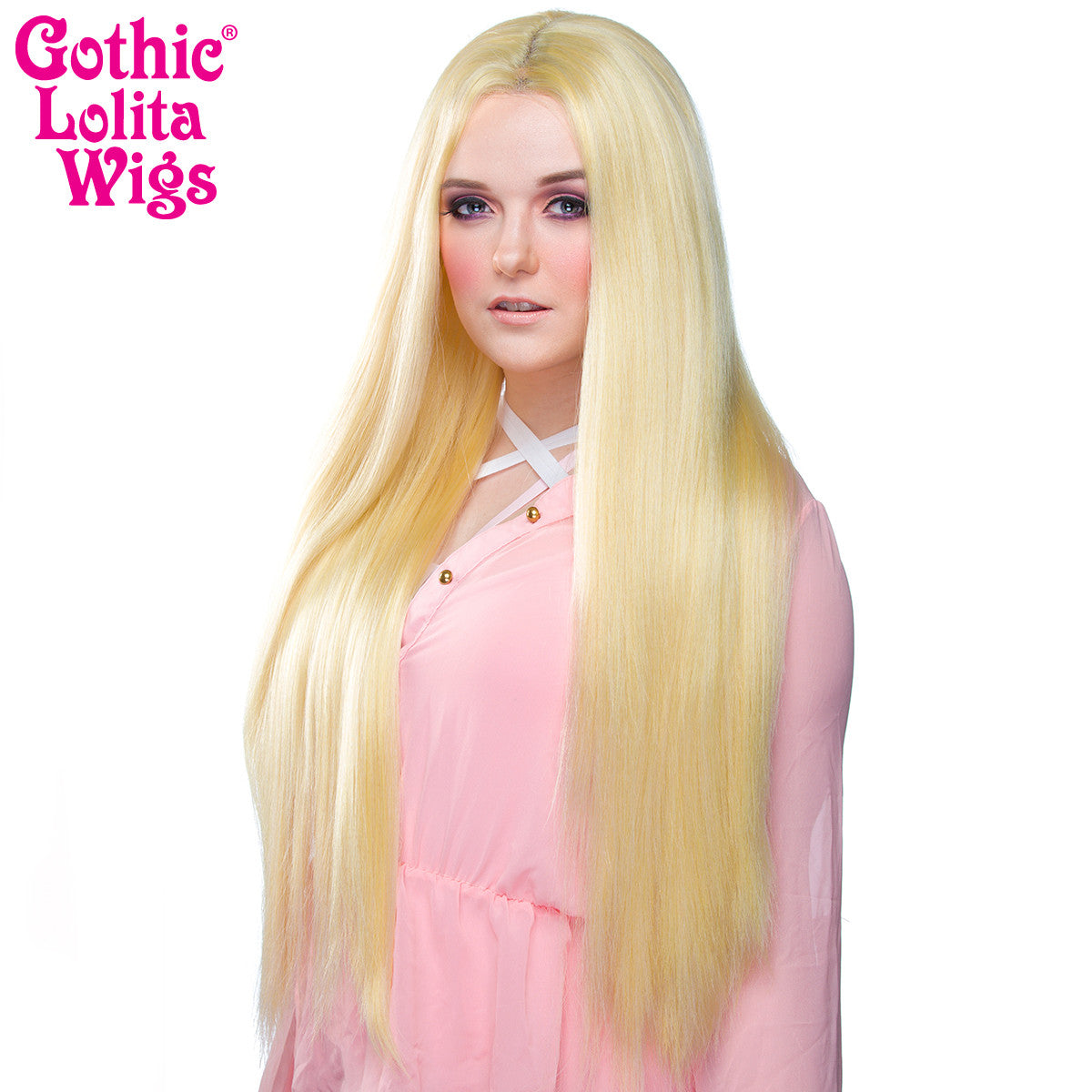 "Lace Front Yaki Straight 32"" - Light Blonde Mix -00698"