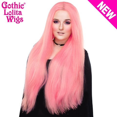 "Lace Front Yaki Straight 32"" - Bubble Gum Pink -00699"